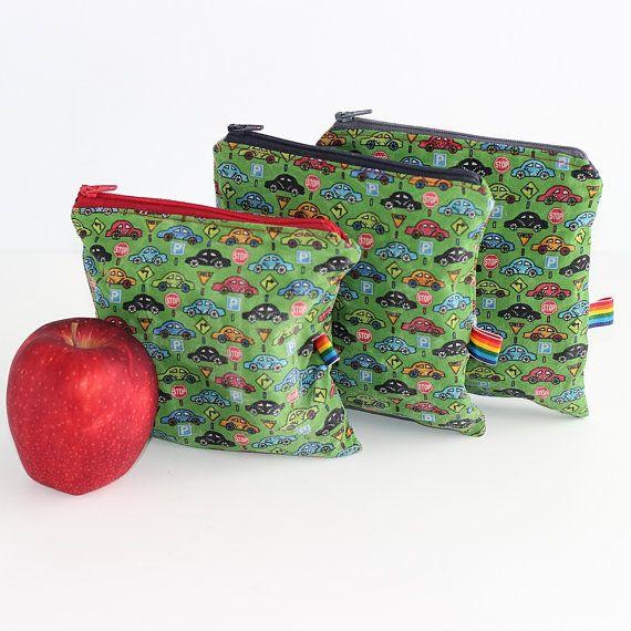 Reusable Baggies - Set of 3 Reusable Snack Bags - Zero Waste - Food Storage Snack  sc 1 st  Pinterest & Reusable Baggies - Set of 3 Reusable Snack Bags - Zero Waste - Food ...