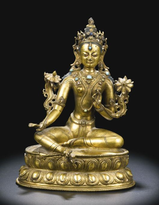 Old Statue Green excellent Vintage Buddhism Bronze God Buddha Bodhisattva Tara