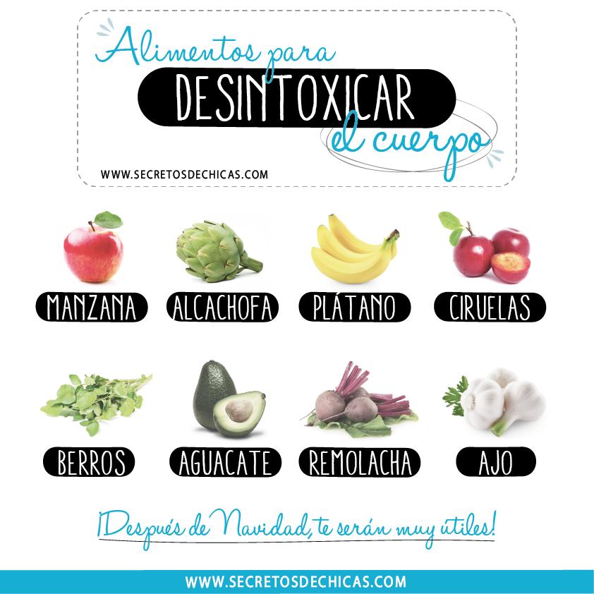 Alimentos Para Desintoxicar El Cuerpo Por Secretos De Chicas Nutrition Health Health Motivation