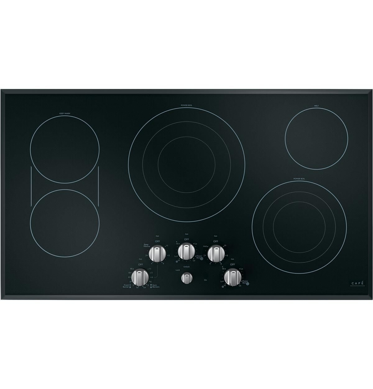 Ge Cafe Cep70362ms1 36 Built In Electric Cooktop Black