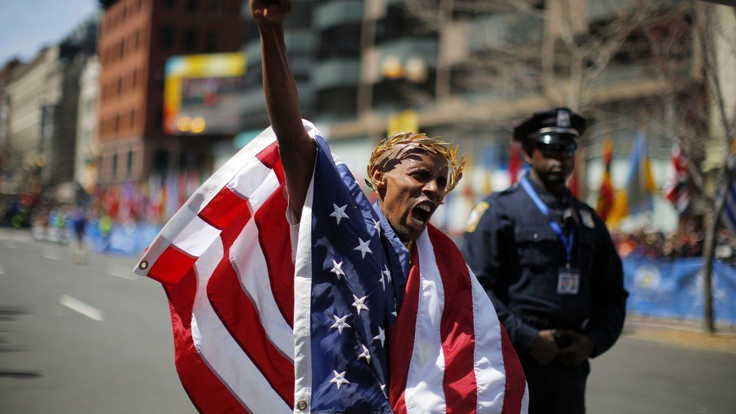 A Year later, It's Old Glory in Boston Marathon Loading
