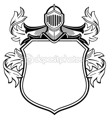Printable Family Crest Shield. heraldry castle free