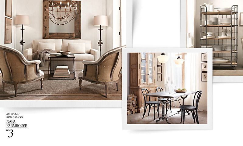 Big Style, Small Spaces | Restoration Hardware - Ideas for one of ...