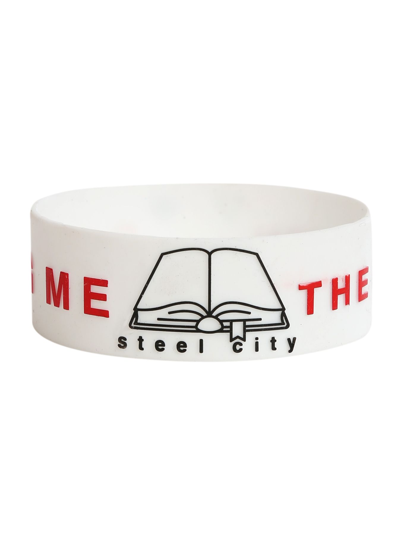 Bring Me The Horizon Steel City Rubber Bracelet   Hot Topic