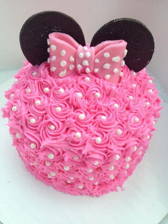 Minnie Mouse Mini Smash Cake Rose S Cakes Pinterest
