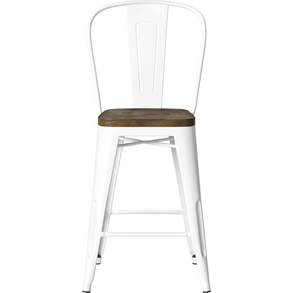 Remarkable 24 Carlisle Metal Counter Stool With Wood Seat Natural Creativecarmelina Interior Chair Design Creativecarmelinacom