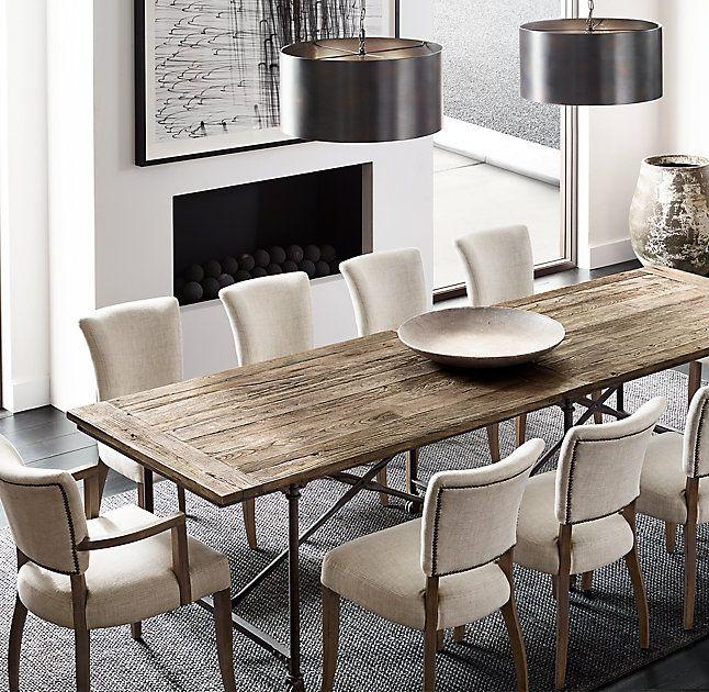 Flatiron Rectangular Dining Table Metal Dining Room