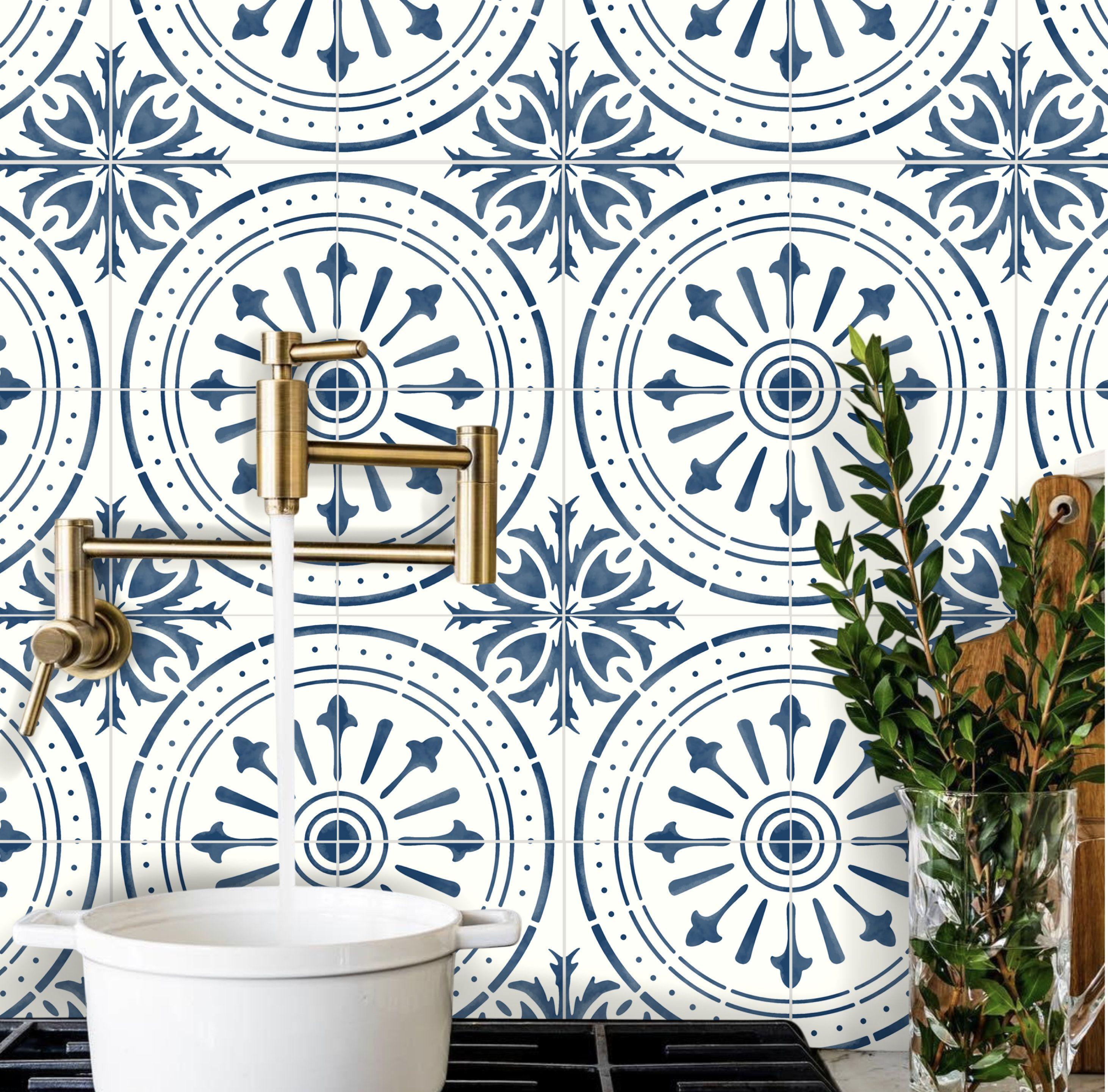Tile Stickers For Floor Kitchen Backsplash Bath Removable