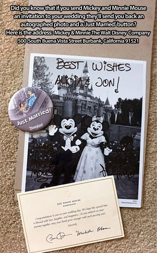 Invite Minnie And Mickey To Your Wedding And Receive An Autographed