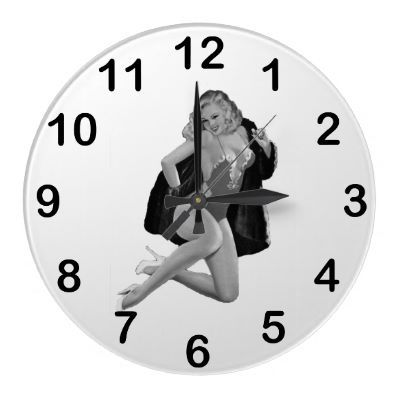 Wall Clock Black White PinUp Girls,where can I buy this ...