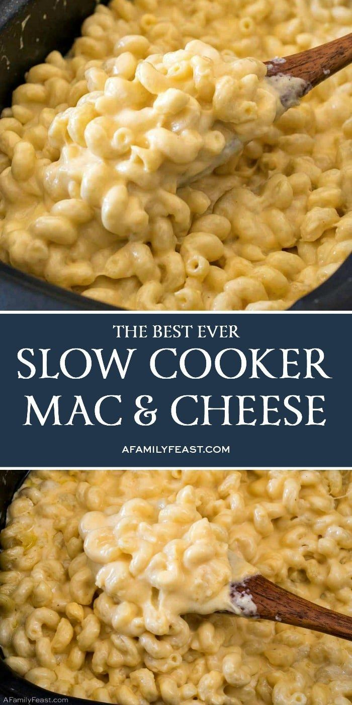 Slow Cooker Mac & Cheese - A Family Feast®