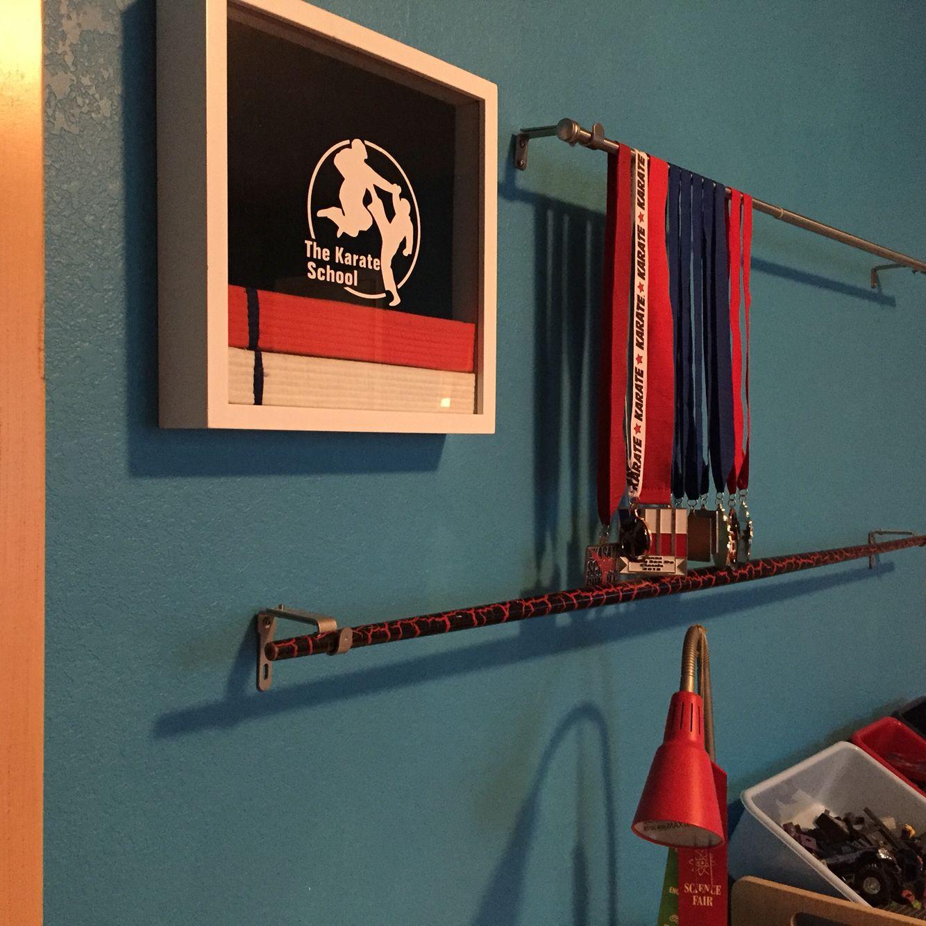 Karate Belt Display Ideas - Karate belt display weapon display medal display place belts in a shadow box