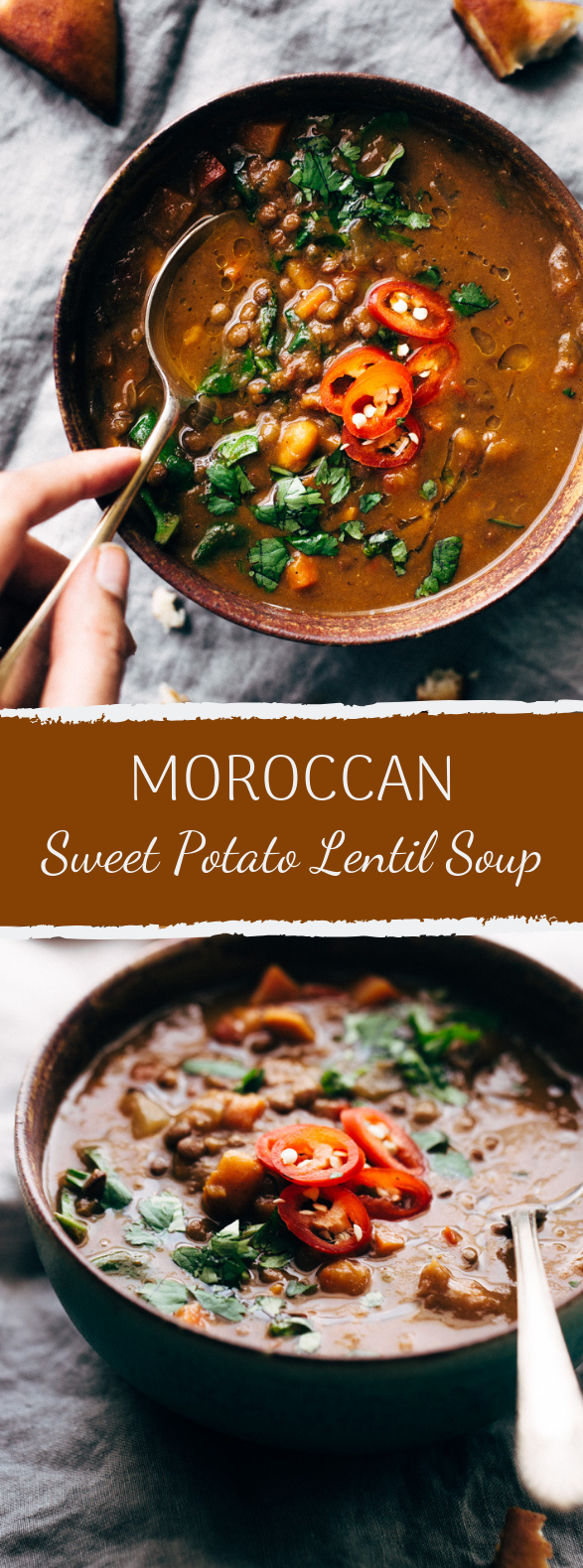 Photo of WINTER DETOX MOROCCAN SWEET POTATO LENTIL SOUP (SLOW COOKER) #vegetarian #comfortfood