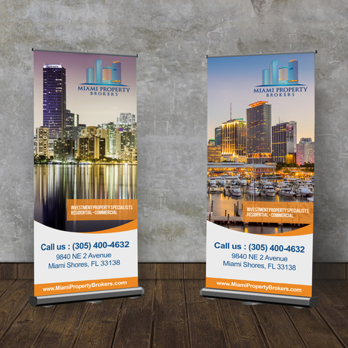 Create A Sleek Trade Show Banner For A Miami Real Estate Company Signage Contest Design Signage Contest Eddi Company Signage Tradeshow Banner Miami Real Estate
