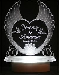 angel wing wedding cake | ... angel heart cake top style 110 price $ 89 99 lighted winged angel