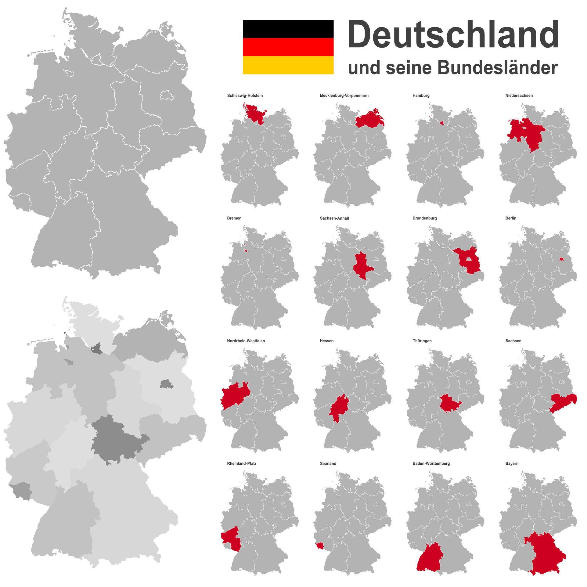 aufstellung der deutschen bundesl nder mit ihren hauptst dten die bundesrepublik deutschland. Black Bedroom Furniture Sets. Home Design Ideas