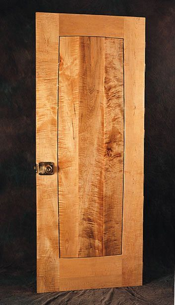 Elegant Curly Maple Door