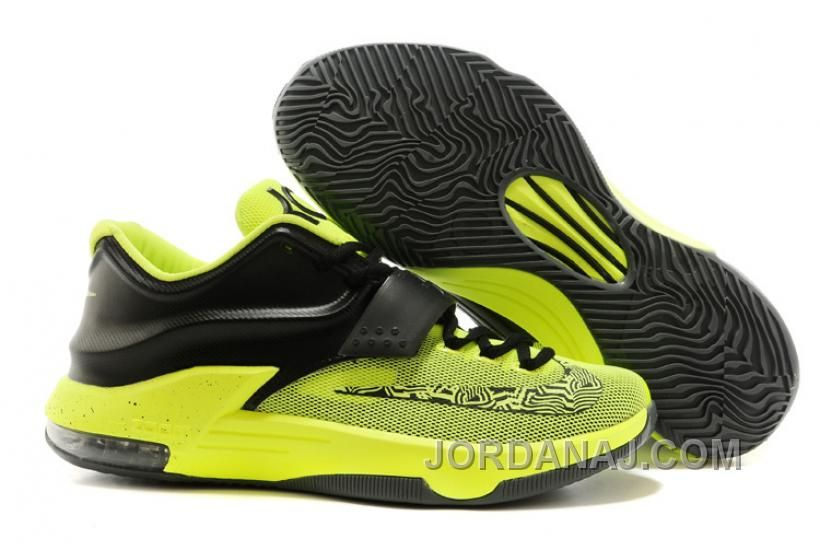 low priced 7bc11 6c95d Brand Nike Zoom KD 7 Men Style Electric Green and Black Colorway Cheap  Training Shoes