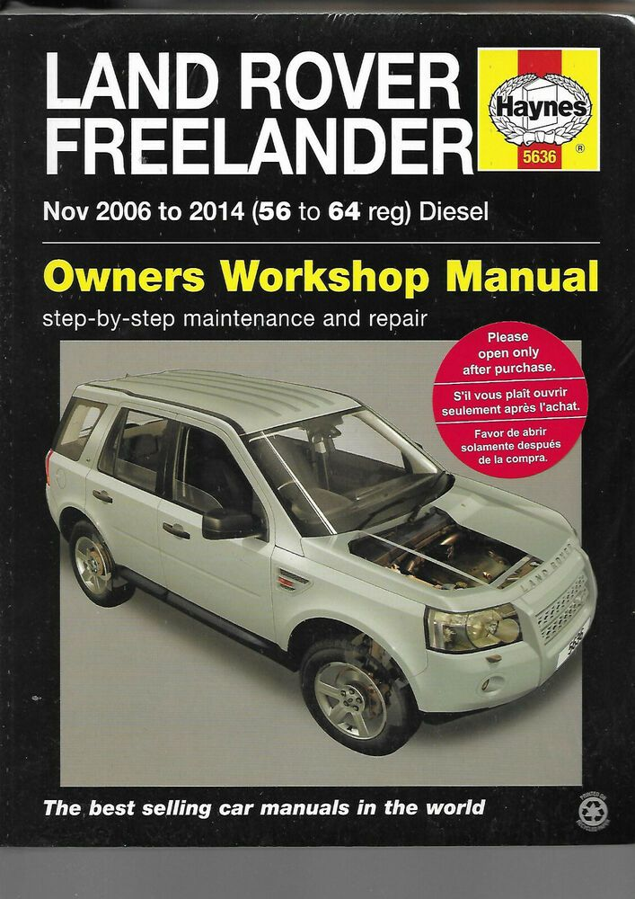 Haynes Land Rover Freelander 2 Diesel Owners Workshop Manual 2006 2015 2wd 4x4 Land Rover Land Rover Freelander Manual Car