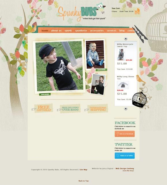 fun site for kids clothing...