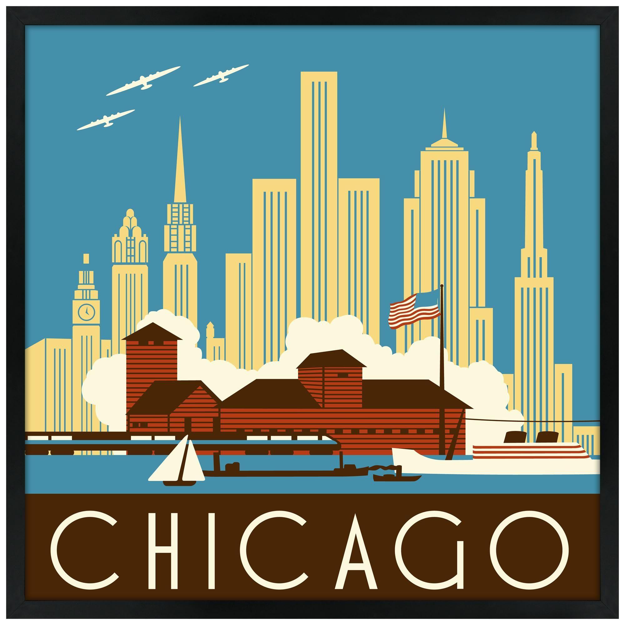 Chicago II Wall Art   Chicago ii and Art pieces