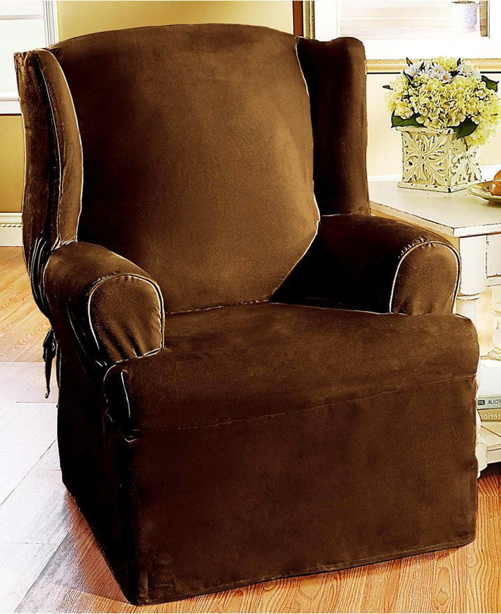 Sure Fit Soft Faux Suede Chair Slipcover & Reviews
