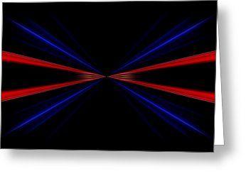 All Greeting Cards - Linee rosse e blu infinito su uno sfondo nero. Greeting Card by Orazio Puccio #business #b2bmarketing #socialmediamarketing #contentmarketing #marketingtips #digitalmarketing #marketing