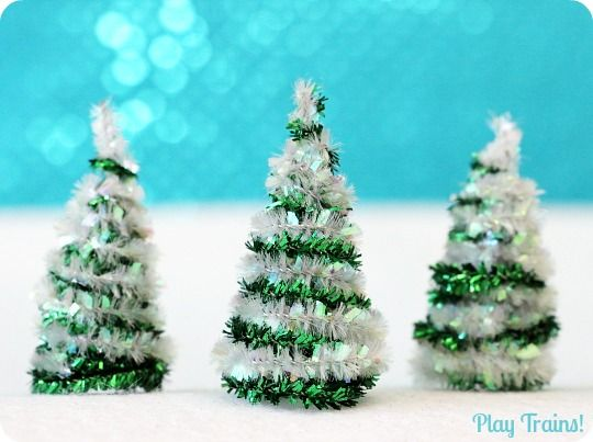 DIY Pipe Cleaner Trees Christmas Craft | Pipes, Plays and ...