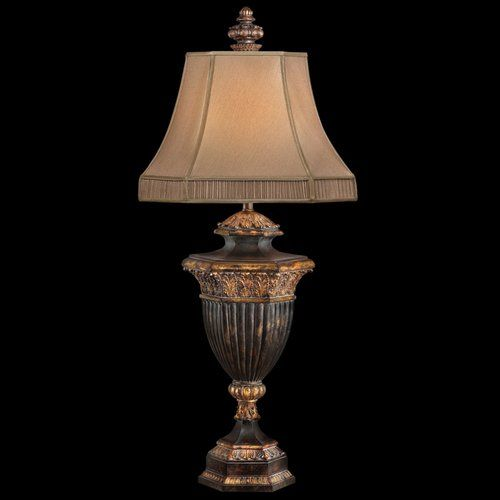 Castile one light table lamp in gold leaf finish fine art lamps accent lamp table lamps la