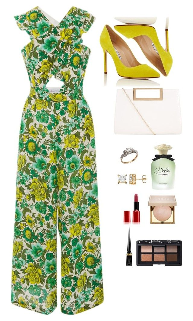 """""""Simple elegance"""" by elizzy1202 ❤ liked on Polyvore featuring Alice McCall, Manolo Blahnik, New Look, Dolce&Gabbana, Giorgio Armani, Christian Louboutin, Stila and NARS Cosmetics"""