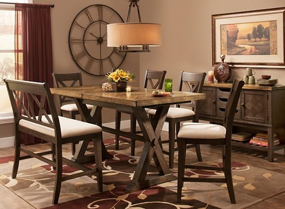 Wexford 6 Pc W Bench Dining Sets Raymour And Flanigan