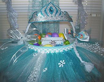 Elsa easter basket aqua easter basket elsa tutu easter basket shop for frozen easter baskets on etsy the place to express your creativity through the buying and selling of handmade and vintage goods negle Images