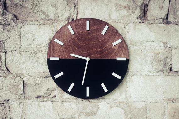 Wall Clock 11 Modern Wall Clock Wood Clock Wooden Clock Farmhouse Wall Clock Wooden Wall Clock Lake House Decor Wood Wall Clock Wall Clock Modern Wooden Clock Farmhouse Wall Clocks