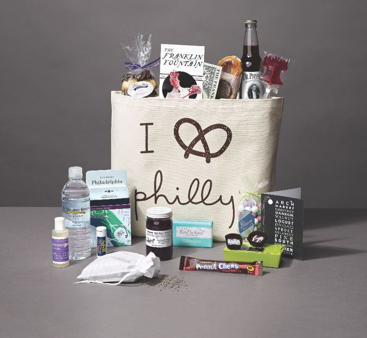 The Best Made In Philly Welcome Bags For Your Out Of Town Guests Bridal Bulletin Wedding Gift Bags Wedding Gifts For Guests Wedding Guest Bags