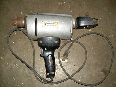 Vintage Craftsman Reversable 1 2 Electric Drill 315 11490 Working Craftsman Vintage Powertools Drill Vintage Craftsman Vintage Tools Electric Drill