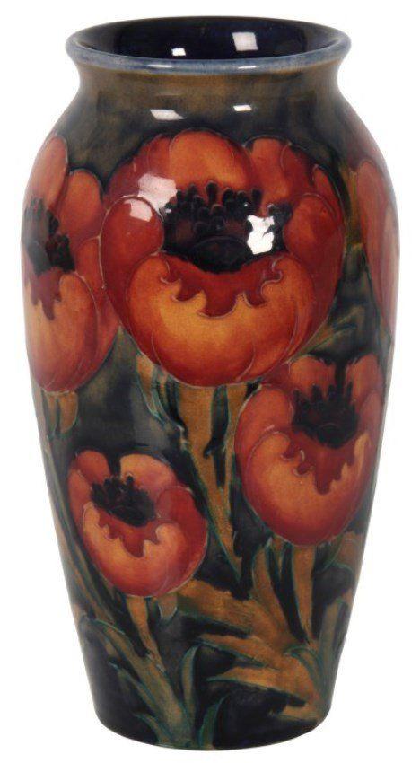 W Moorcroft Poppy Pattern Vase On Moorcroft Pottery Pinterest