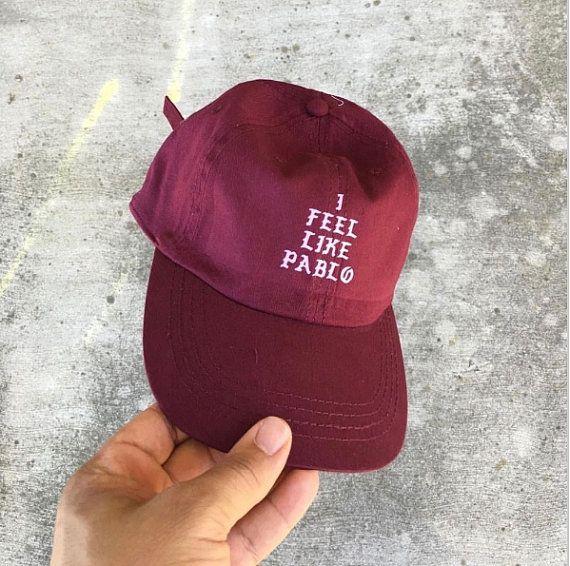 1712fef36f6 Burgundy  I Feel Like Pablo  Hat Kanye West The by VistaFashion ...