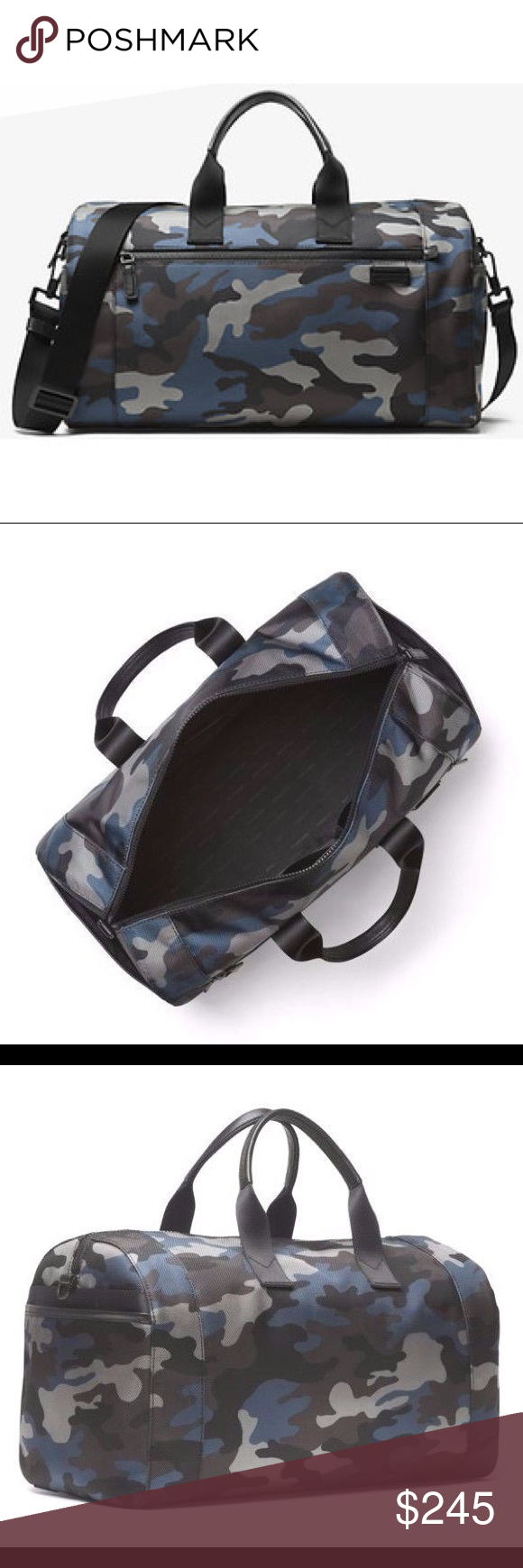 747db29da78f Brand new Men s Large Duffle bag NWT Michael Kors Travis Camouflage Nylon  Duffel Travel Gym Bag