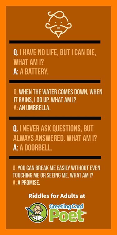 Fun Riddles for Adults to Challenge the Mind