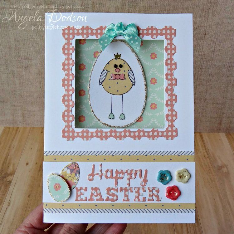 Adorable Easter card using the Simply Creative Folk Song papers