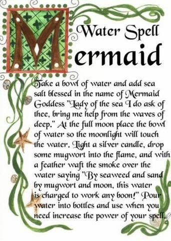 Spells to Become a Mermaid | Mermaid Water Spell... - Temple ...