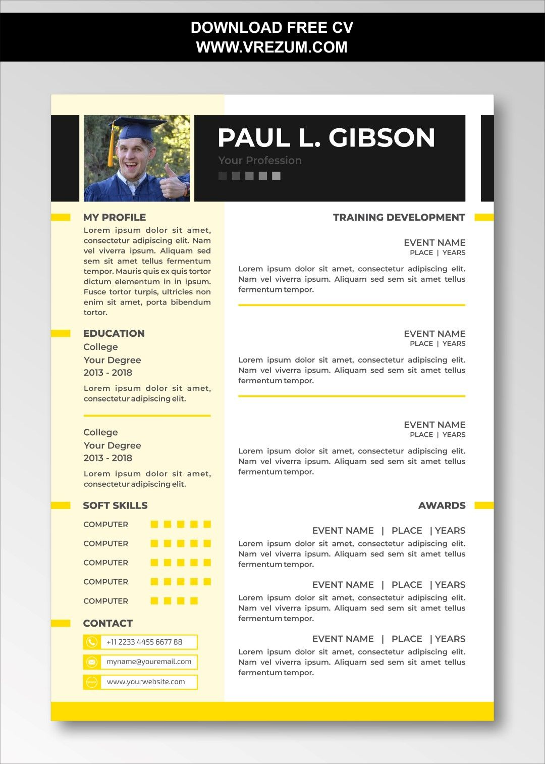 (EDITABLE) FREE CV Templates For Graduate School in 2020