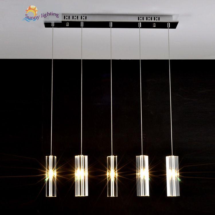 Pas cher italie salle à manger 5 lumières lustre en cristal lampe ...