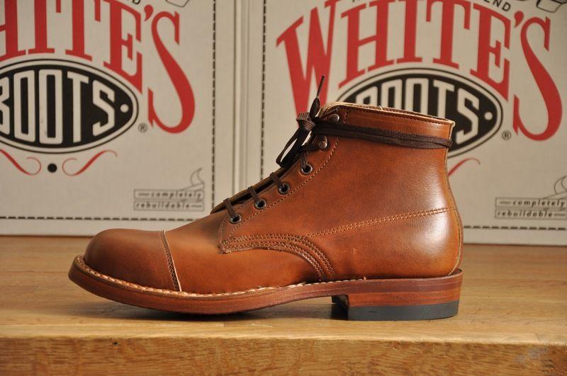 British Tan White's Boots