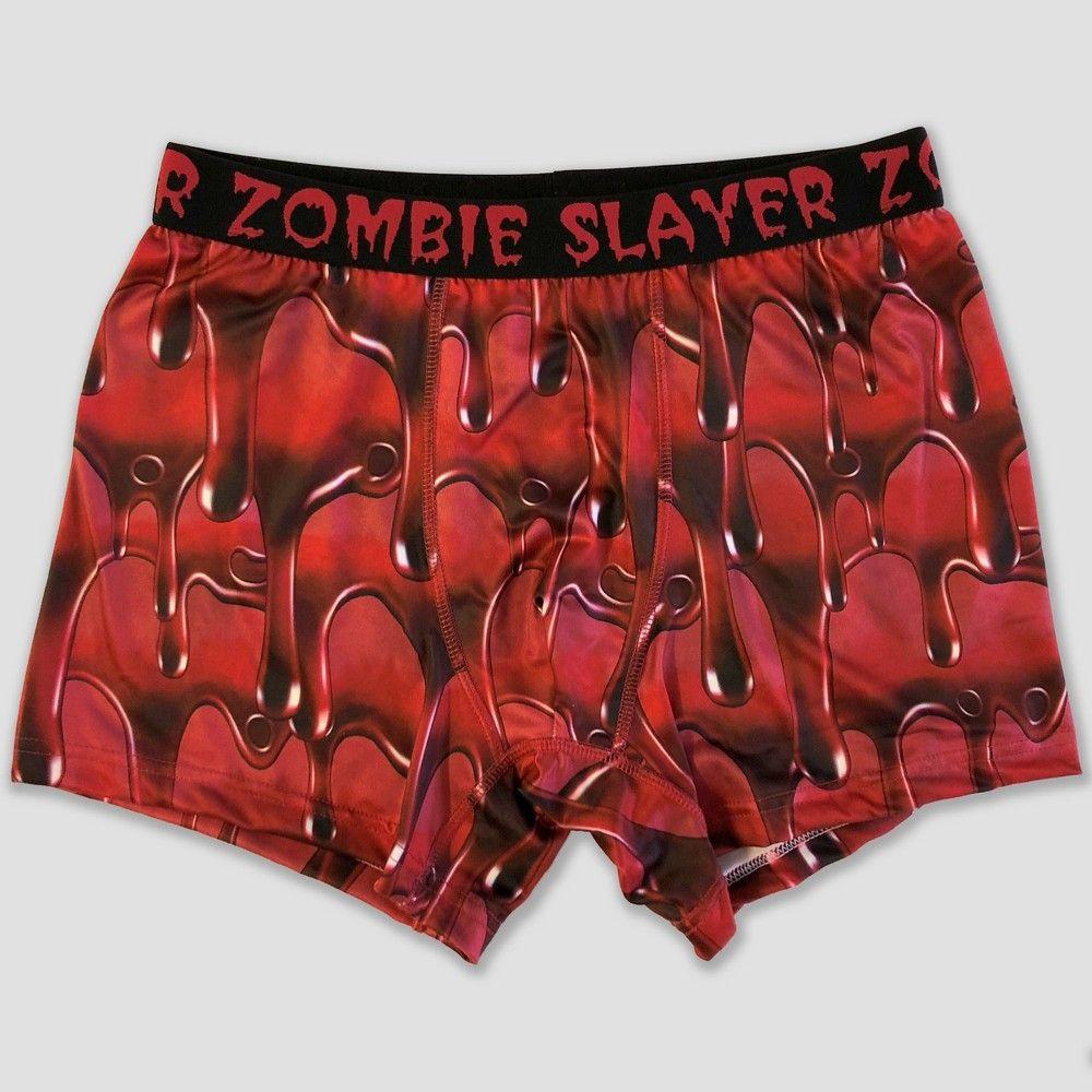 Men s Zombie Slayer Boxer Briefs - Red XL  2c9f048bc75e