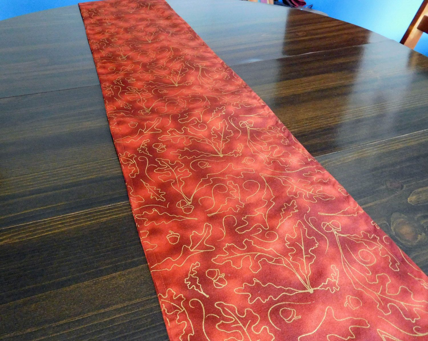 Fall Harvest Table Runner, Rust Table Runner, Fall Table Runner Size Is  71.5 Inches