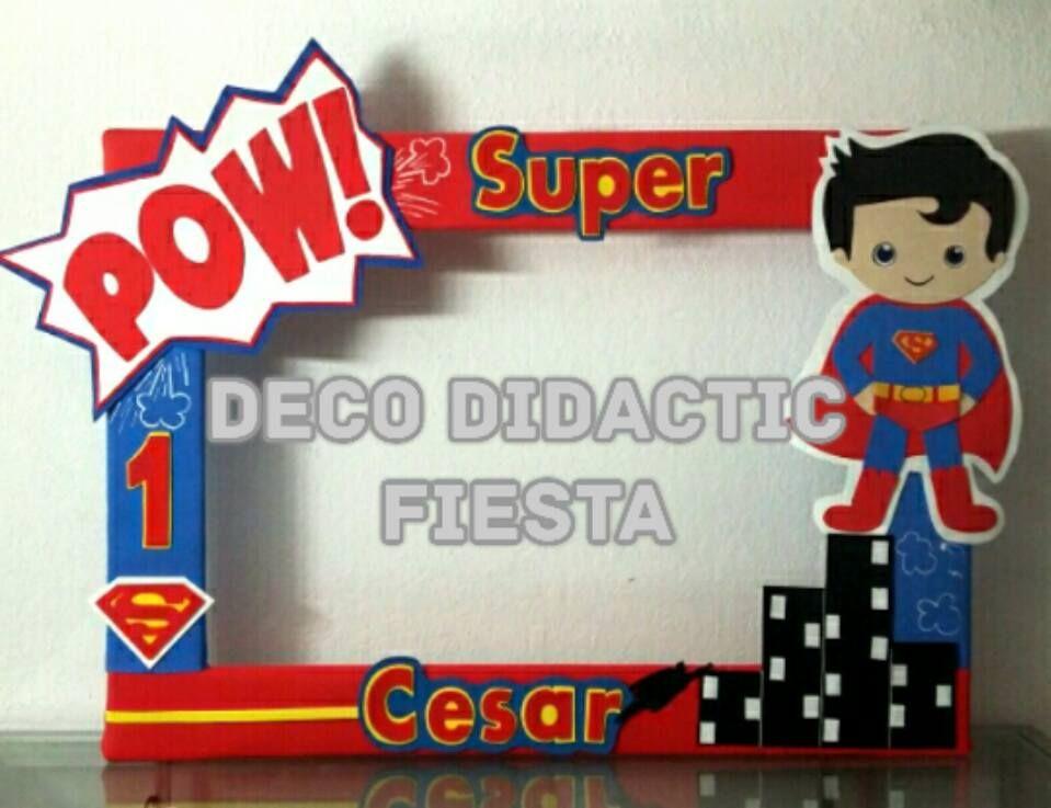 Superman, marco para fotos, FIESTA/PARTY   Marcos para foto / Photo ...