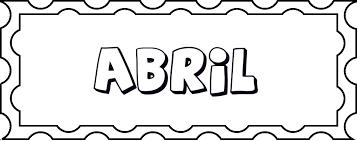 Resultado De Imagen Para Buscar El Nombre De Abril Para Colorear