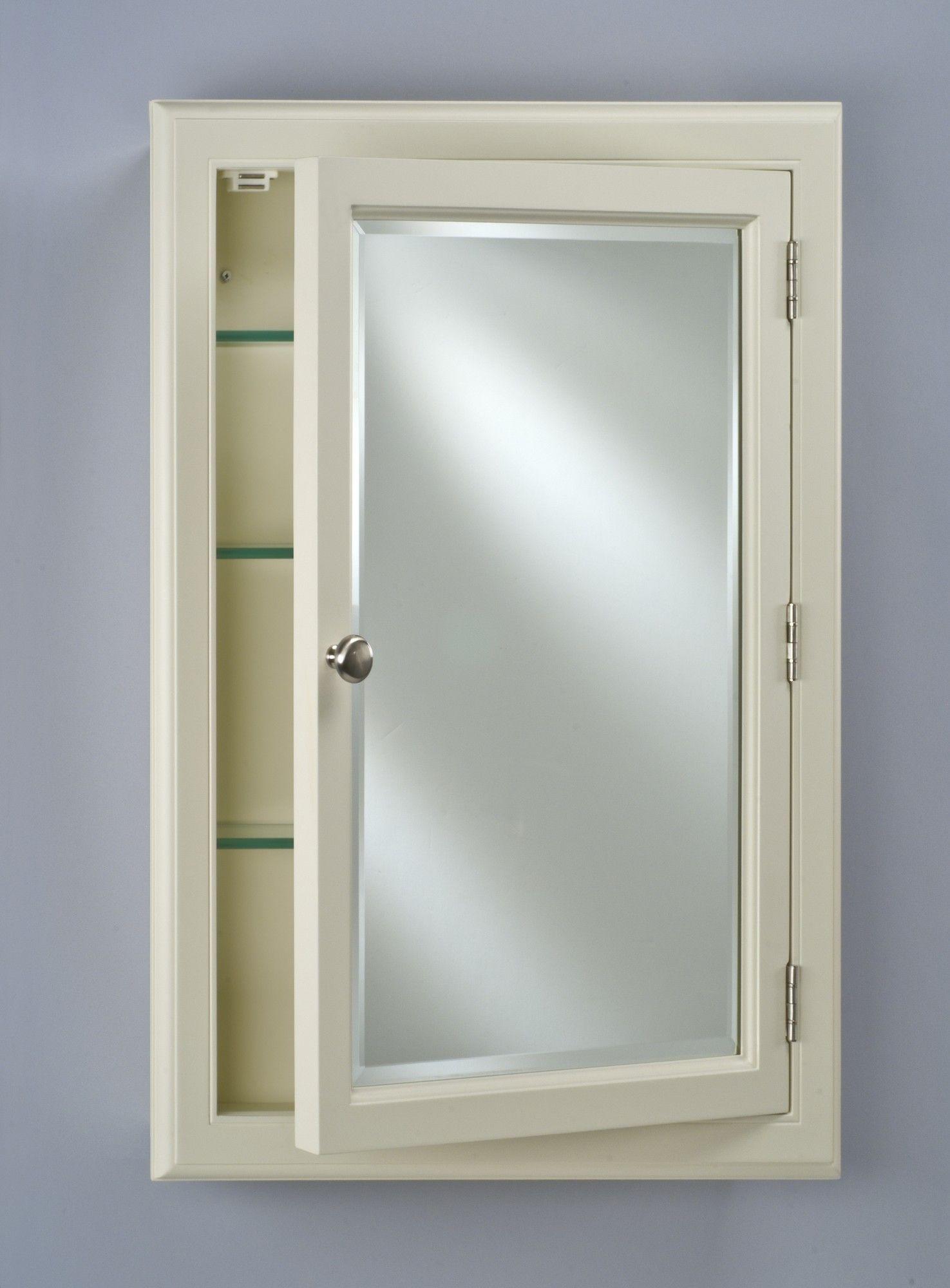Parise Recessed Or Surface Mount Framed Medicine Cabinet With 4 Adjustable Shelves Recessed Medicine Cabinet Wood Medicine Cabinets Adjustable Shelving