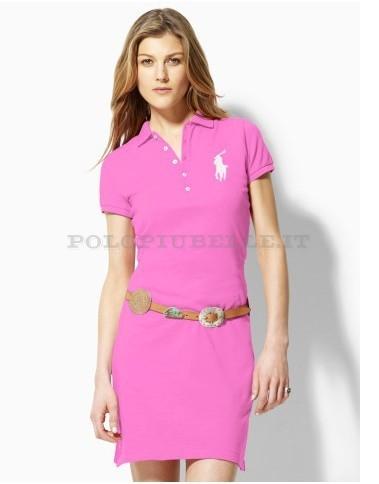 Ralph Lauren Donne Big Pony Vestito Rosa In Saldo Vestiti Abbigliamento Ralph Lauren